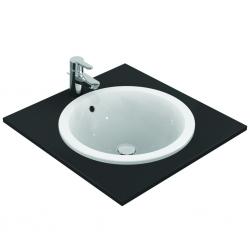 Connect lavabo à encastrer sans trou, rond 480 x 175 x 480 mm,blanc (E505301)
