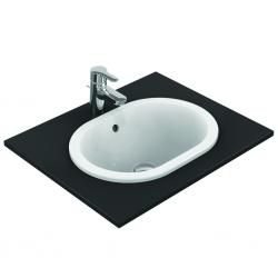 CONNECT Lavabo à encastrer sans trou, ovale 480 x 175 x 350 mm, blanc (E504501)
