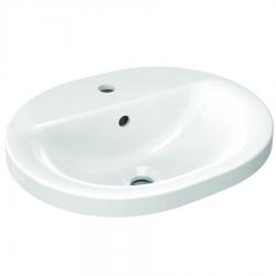 Connect lavabo à encastrer ovale 480 x 175 x 400 mm, blanc (E503801)