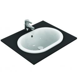 CONNECT Lavabo à encastrer sans trou, ovale 550 x 175 x 380 mm, blanc (E504701)