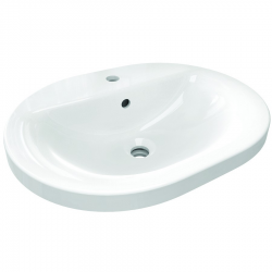 Connect lavabo à encastrer 550 mm ovale 550 x 175 x 430 mm, blanc (E503901)