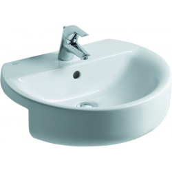 CONNECT Lavabo à semi-encastrer 550 x 170 x 465 mm, blanc IdealPlus (E7923MA)