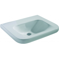 CONTOUR 21 Lavabo pour personnes à mobilité réduite (sans trou / sans trop-plein ) 600 x 175 x 555 mm blanc (E512201)