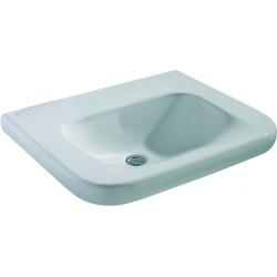 CONTOUR 21 Lavabo pour personnes à mobilité réduite (sans trou / sans trop-plein ) 600 x 175 x 555 mm blanc IdealPlus (E5122MA)