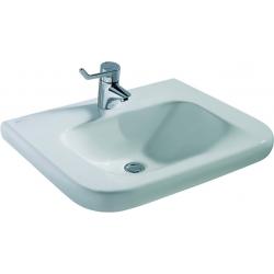 CONTOUR 21 Lavabo pour personnes à mobilité réduite (sans trop-plein) 600 x 175 x 555 mm blanc IdealPlus (E5123MA)