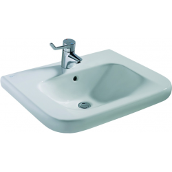 CONTOUR 21 Lavabo pour personnes à mobilité réduite 600 x 175 x 555 mm, blanc IdealPlus (S2389MA)