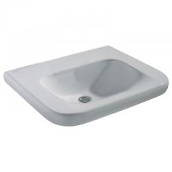 CONTOUR 21 Lavabo pour personnes à mobilité réduite 650x175x555 mm sans trou/ouverture , blanc IdealPlus (S2534MA)