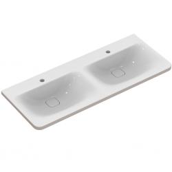 TONIC II Lavabo-plan double 121,5 x 49 cm blanc IdealPlus (K0870MA)