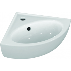 EUROVIT Lave-mains en coin 335 x 335 mm, blanc (V220201)