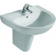 EUROVIT Lavabo 215 x 650 x 475 mm, blanc (V134001)