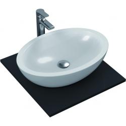 STRADA Lavabo à poser oval 600 x 420 x 160 mm, blanc (K078401)
