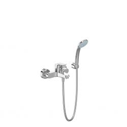 CERAFLEX Mitigeur bain/douche avec set de bain 80mm 1F, flex 1500mm ( B1722AA)
