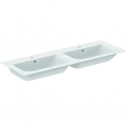 CONNECT AIR Lavabo-plan double 134 x 46 cm blanc IdealPlus (E0272MA)