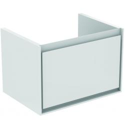 CONNECT AIR Meuble lavabo Cube 1 tiroir 650mm ,400 x 585 x 412 mm Couleur Gris plume brillant (E0847EQ)