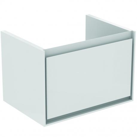 CONNECT AIR Meuble lavabo Cube 1 tiroir 650mm ,400 x 585 x 412 mm Couleur Marron chocolat mat (E0847VY)