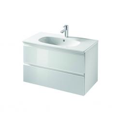 TESI Meuble pour lavabo 80 x 44 x (H) 49 cm Couleur blanc laqué (T0051OV)