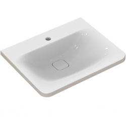 TONIC II Lavabo-plan 61,5 x 49 cm blanc IdealPlus (K0837MA)