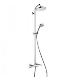 Showerpipe Croma 220, bras de douche 400 mm pivotant (27185000)