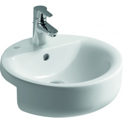 CONNECT Lavabo à semi-encastrer 450 x 170 x 450 mm, blanc IdealPlus (E8065MA)