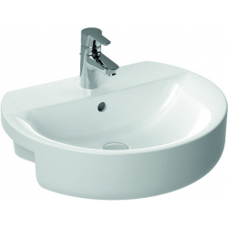 CONNECT Lavabo à semi-encastrer 550 x 170 x 465 mm, blanc (E792301)