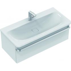 TONIC II Meuble pour lavabo 100 x 44 x (H) 35 cm laqué blanc brillant (R4304WG)