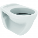 EUROVIT WC Suspendu 355 x 370 x 520 mm blanc (V340301)