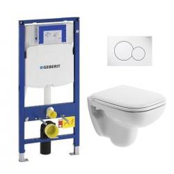 Pack WC Geberit UP320 Duofix + Cuvette D-Code Duravit Rimless + abattant SoftClose + Plaque de commande Sigma01 (DCODESET5)