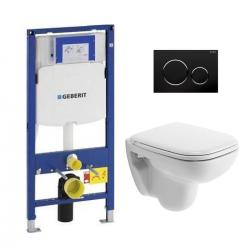 Pack WC Geberit UP320 Duofix + Cuvette D-Code Duravit Rimless + abattant SoftClose + Plaque de commande Sigma20 (DCODESET6)