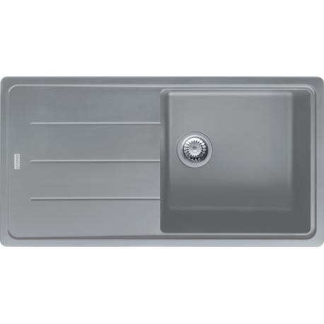 BASIS - Evier Granit BFG 611, 970x500 mm, pierre grise (114.0285.314)