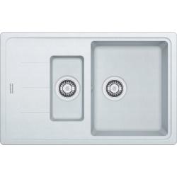 BASIS - Évier fragranit BFG 651-78, 780x500 mm, blanc Arctique (114.0285.214)