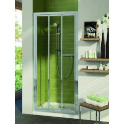 Portes transparentes coulissantes 3 panneaux Connect 80 cm (T9867EO)