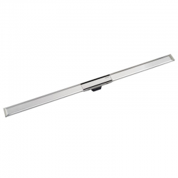 Canal de douche en acier inoxydable, 90 cm, métal poli (154.450.KS.1)