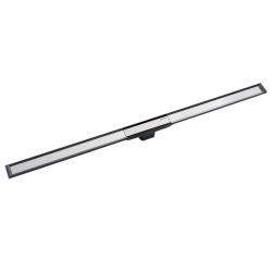 Canal de douche en acier inoxydable, 130 cm, métal foncé (154.451.00.1)