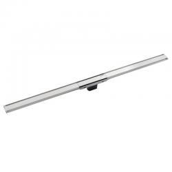 Canal de douche en acier inoxydable, 130 cm, métal foncé, pour revetement mince (154.459.00.1)