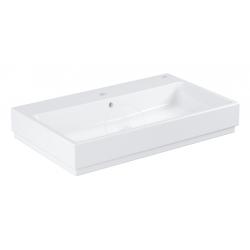 Cube Ceramic Lavabo 80 cm, 800x490 mm, PureGuard, alpine blanc (3946900H)
