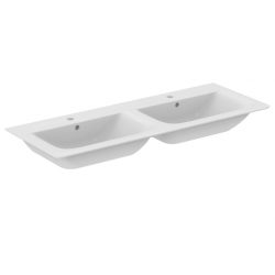 Ideal Standard CONNECT AIR Lavabo-plan double 124 x 46 cm blanc (E027301)