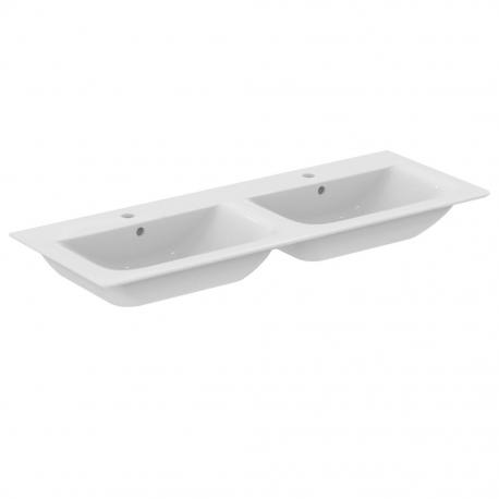 Ideal Standard CONNECT AIR Lavabo-plan double 124 x 46 cm blanc (E027301)