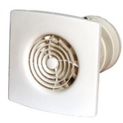 Tichý nástěnný a stropní ventilátor 100 mm s funkcí Humidistat a časovačem