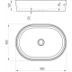 Lavabo Moon 2, 56x40 cm (XJN01300002)