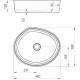 Lavabo Moon 3, 46,3 x 38,9 cm (XJN01300004)