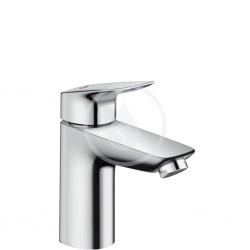 Logis 100 CH3 CoolStart Mitigeur lavabo, avec tirette et vidage synthétique, chromé (71102000)