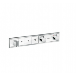 Module thermostatique RainSelect encastré avec 3 fonctions, blanc/chromé (15356400)
