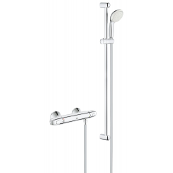 "Mitigeur thermostatique de douche Grohtherm 1000 1/2 ""avec garniture de douche, chrome (34256004)"