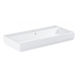 Cube Ceramic Vasque à poser 100cm, blanc alpin (3947500H)