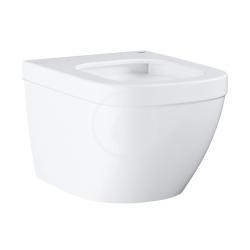 Euro Ceramic Cuvette WC suspendue compact avec PureGuard, Triple Vortex, blanc alpin (3920600H)
