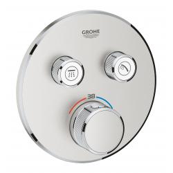 Grohtherm SmartControl Thermostatique pour installation encastrée 2 sorties, Supersteel (29119DC0)