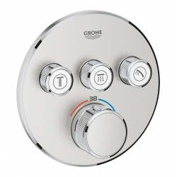 Grohtherm SmartControl Thermostatique pour installation encastrée 3 sorties, Supersteel (29121DC0)