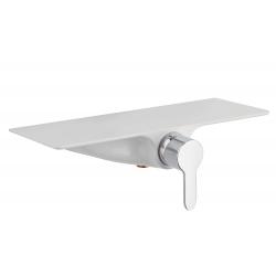 WATERWAY mitigeur monocommande douche avec tablette, chromé/blanc
