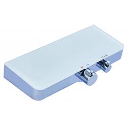 OCEAN mitigeur thermostatique douche avec tablette, chromé/blanc