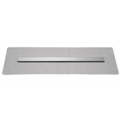 Caniveau de douche avec grille en inox, longueur 700 mm, hauteur 88 mm avec siphon